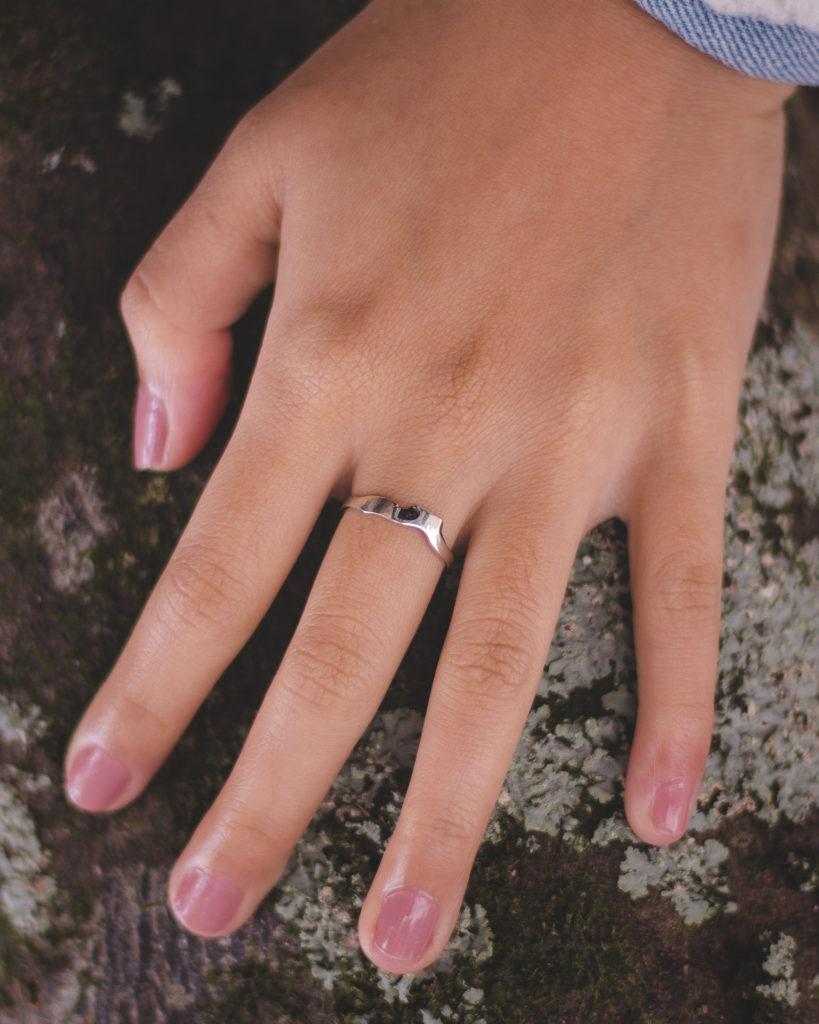 anel em prata 925 Pedra do Baú