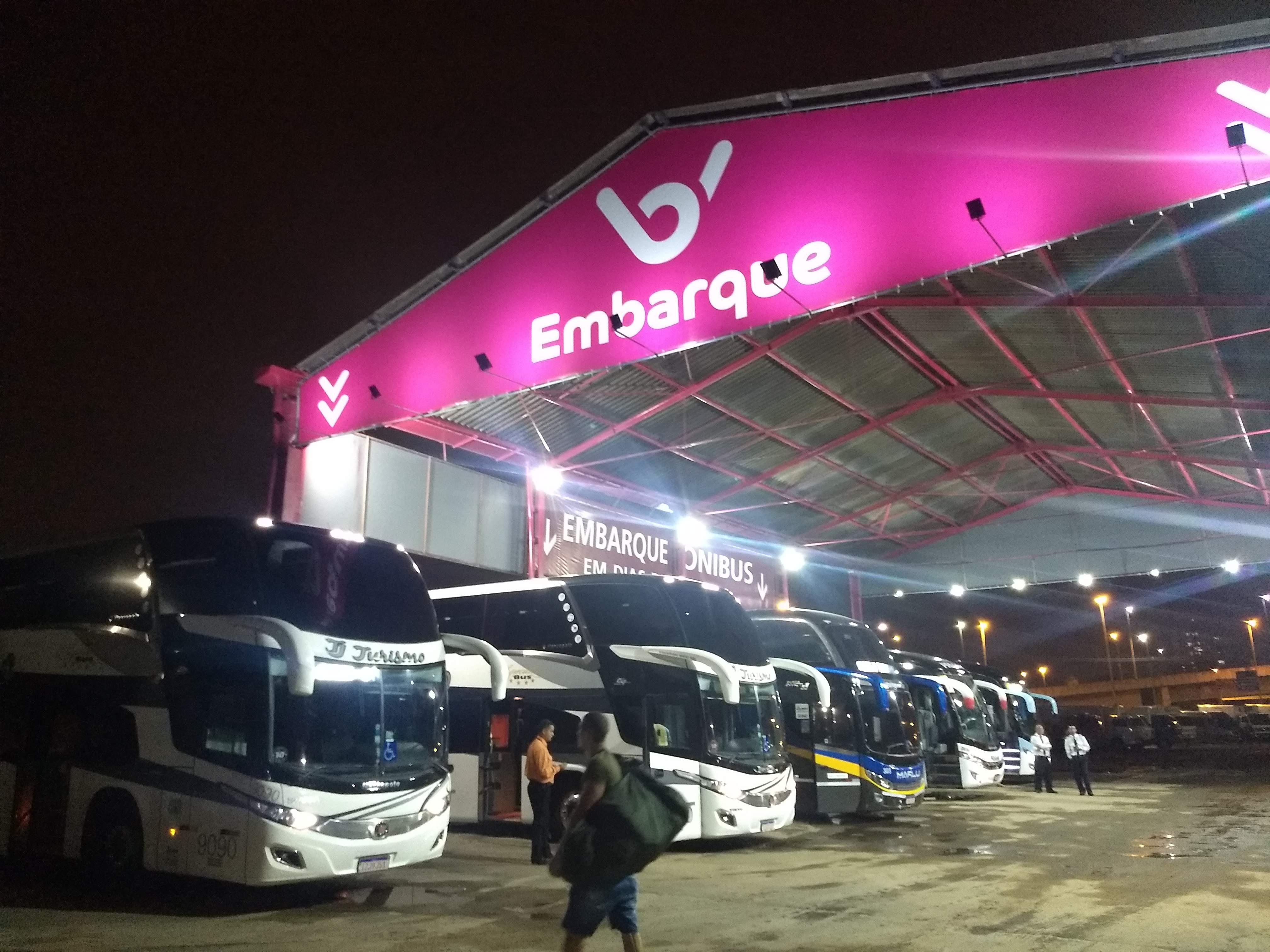 local de embarque/desembarque da Buser em São Paulo